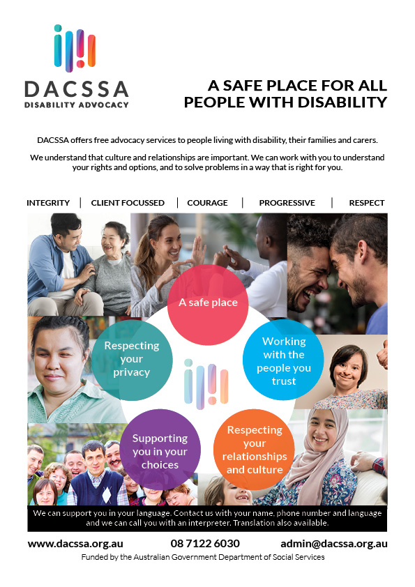 Poster showing all of the diverse groups that DACSSA proudly represent and the values that we uphold